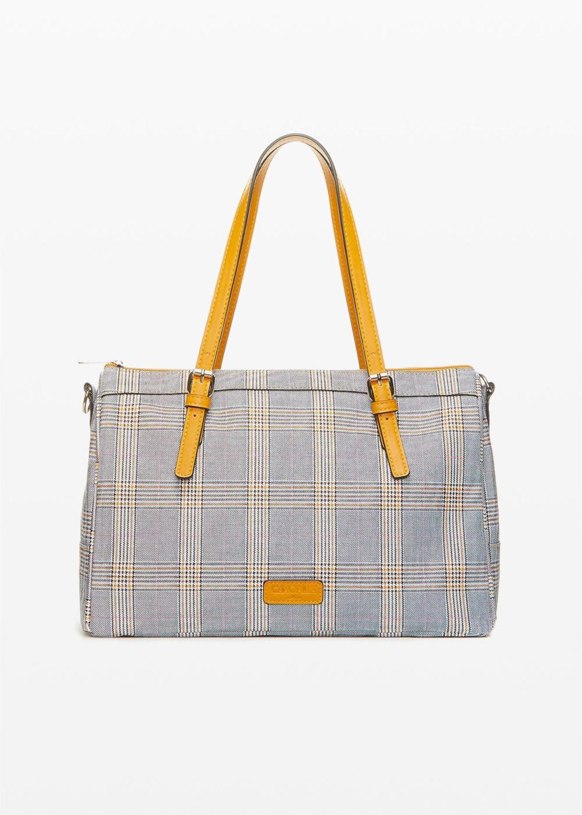 Blind bag check print - Brown - Woman