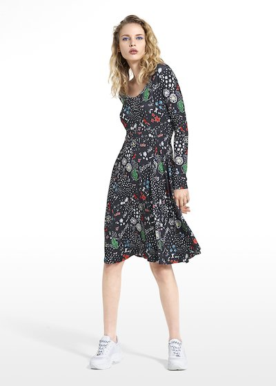 Patterned dream tomorrow dress Achille with long sleeves 06ddd772040