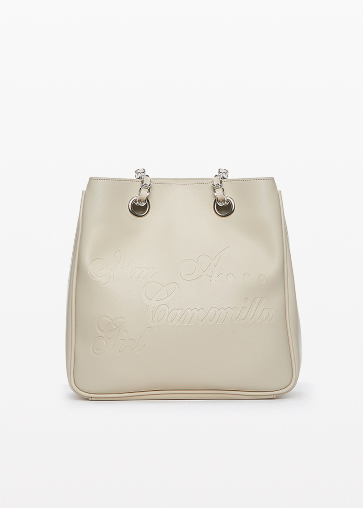 Micamunli faux leather shopping bag with logo