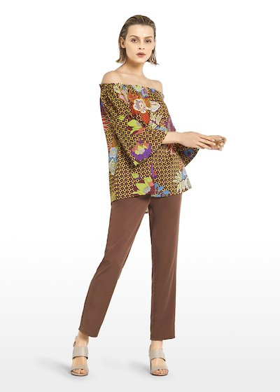 Charlie allover-printed cotton blouse