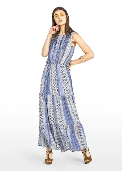 Abely dress in python print georgette