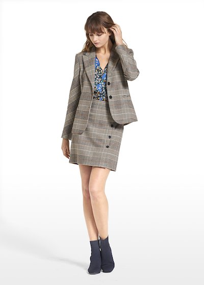 Patterned prince of Wales jacket Giulia
