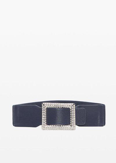 Cintura Clary in ecopelle con fibbia-crystal