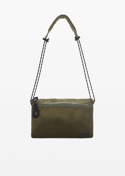 Technical fabric Baby clutch with shoulder strap