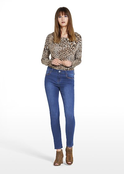 Patterned spotted t-shirt Susanna with hooded neckline
