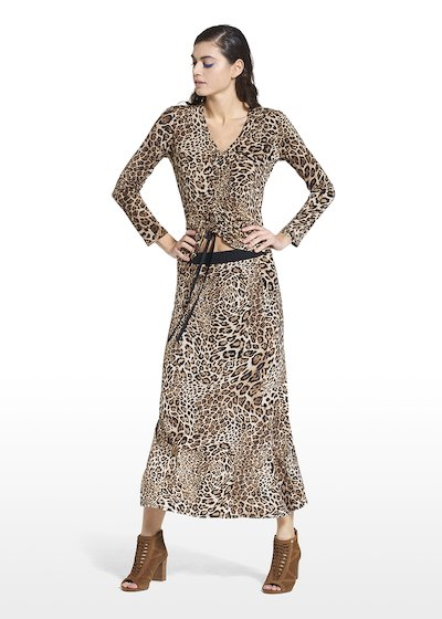 Patterned animalier skirt Gennifer