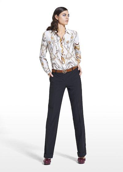Pantaloni Priamo modello Giorgia in tessuto poliviscosa