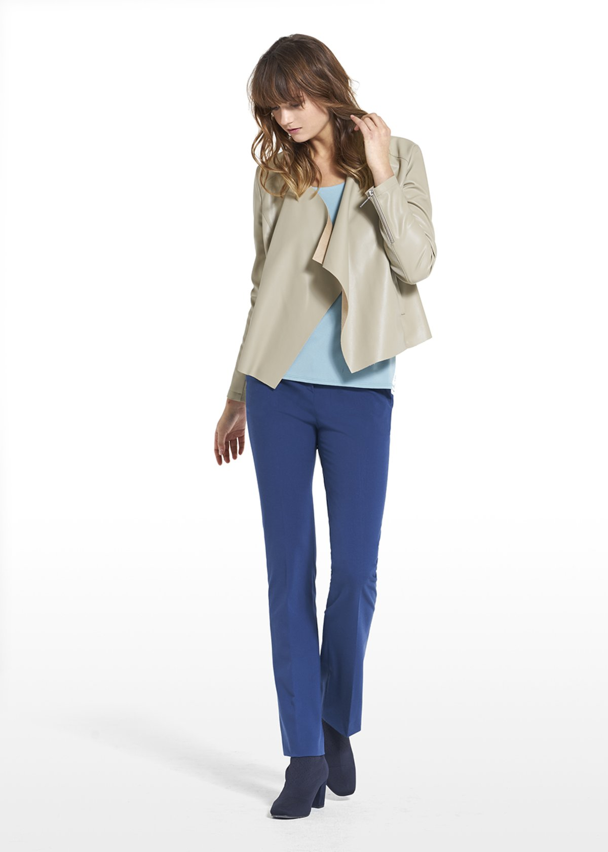 Hunter model tube-leg pants Perseo - Blue - Woman