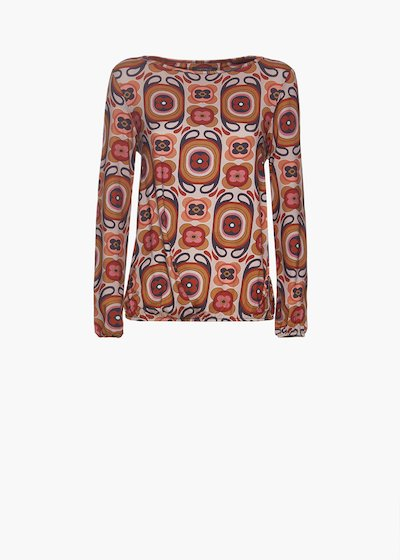 Egg model patterned hippie blouse Soleil