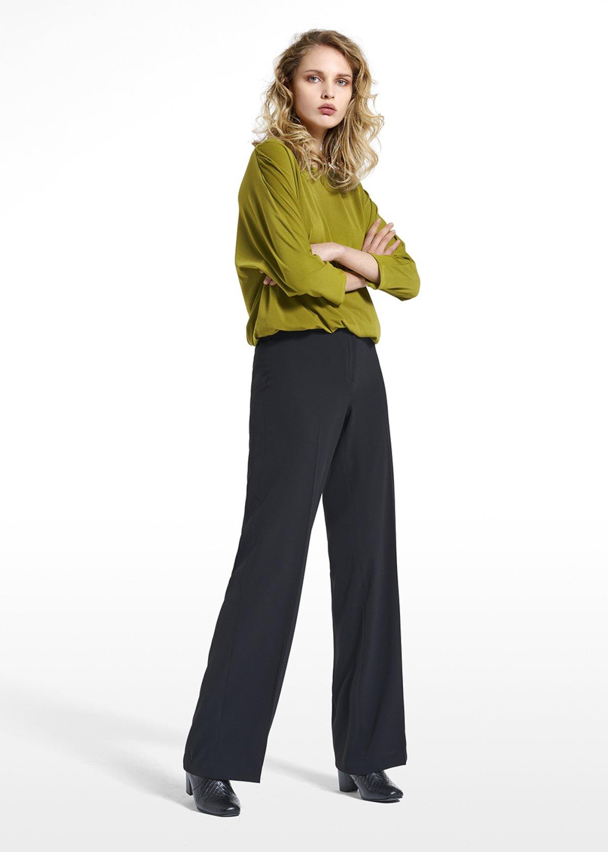 T-shirt Soraya in jersey crepe fabric - Avocado - Woman