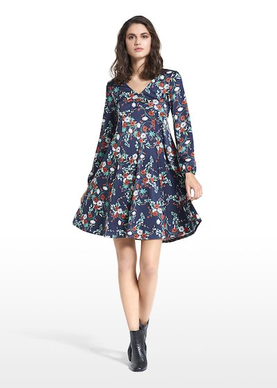 Dress Angelo with floral micro pattern