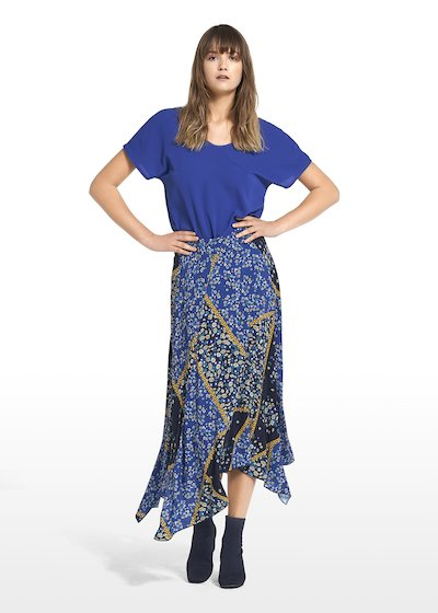 Skirt Glory with asymmetric cut
