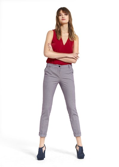 Pantaloni Pilar in tessuto check