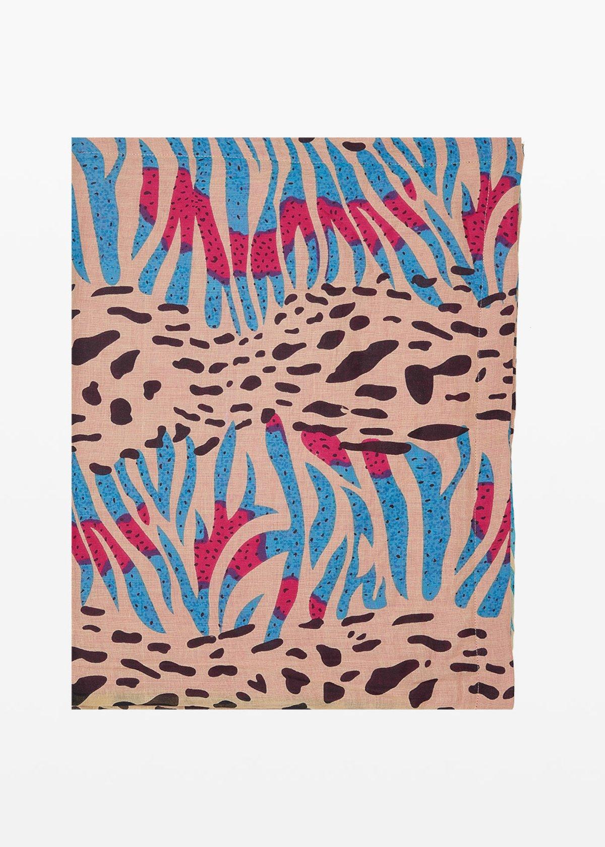 Beach towel Trevis animalier print - Light Beige / Peonia Animalier - Woman