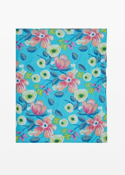 Beach towel Thierry flowers print