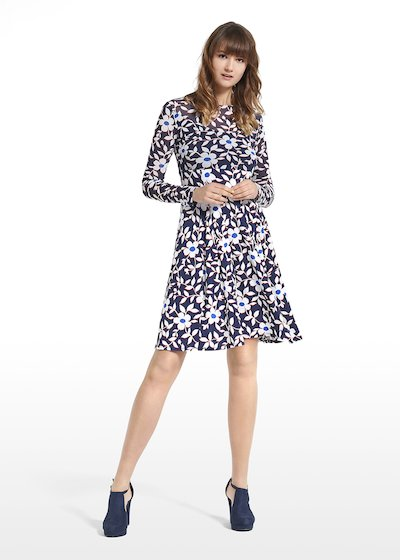 Patterned blue jasmine dress Adele