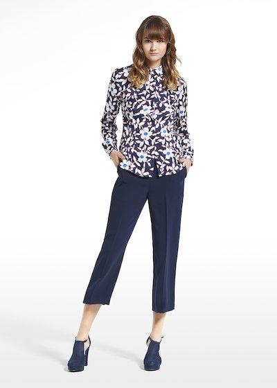 Patterned blue jasmine blouse Camila