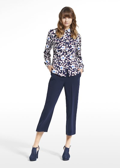 Patterned blue jasmine blouse Camila