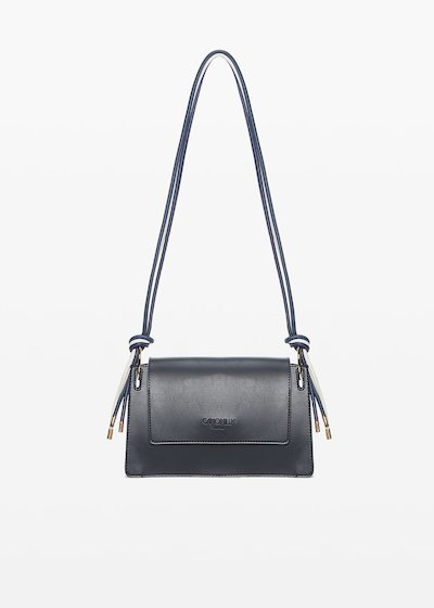 Bertha shoulder bag with layered shoulder strap and light gold details