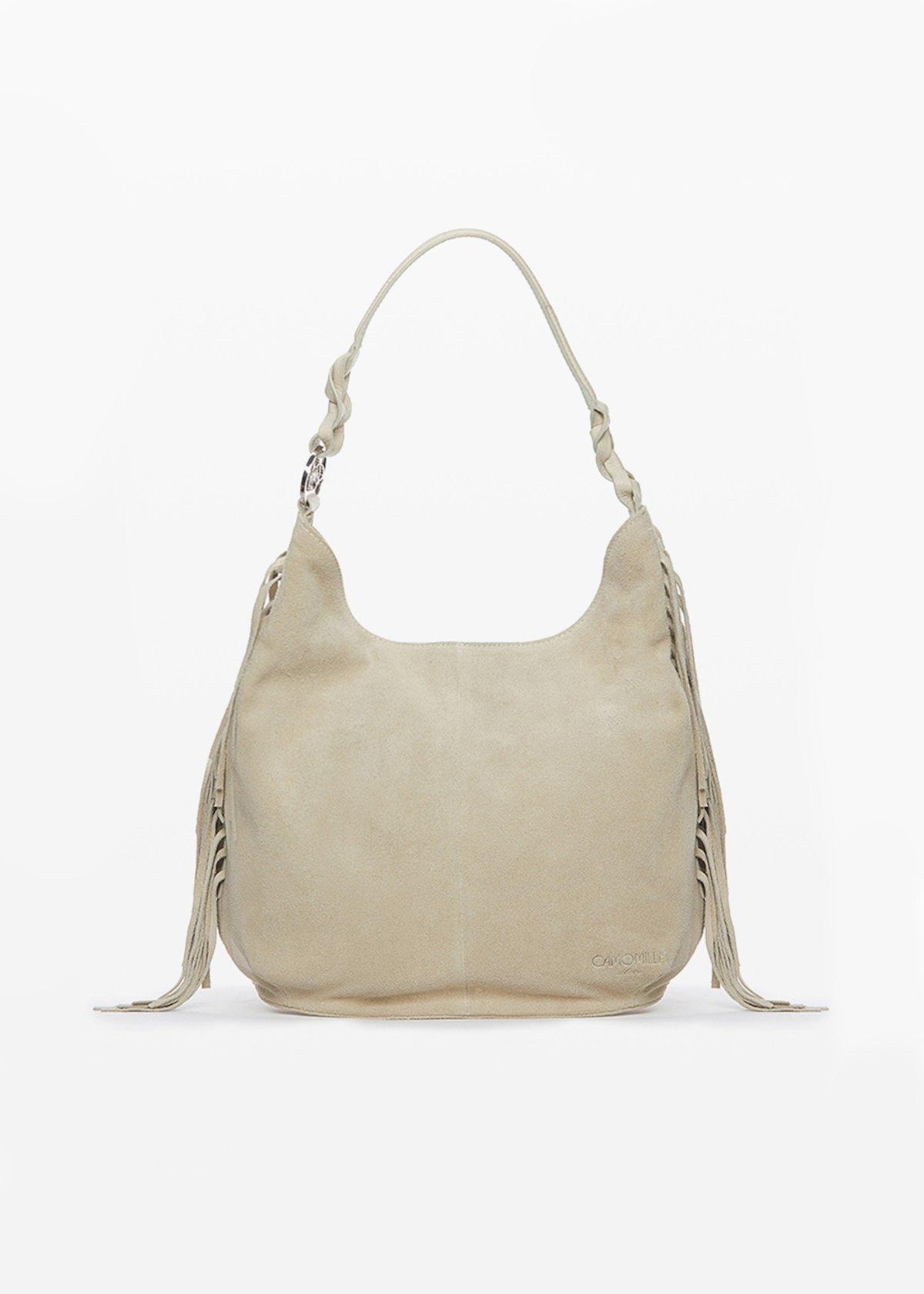 Brandie fringed bag - Light Beige - Woman