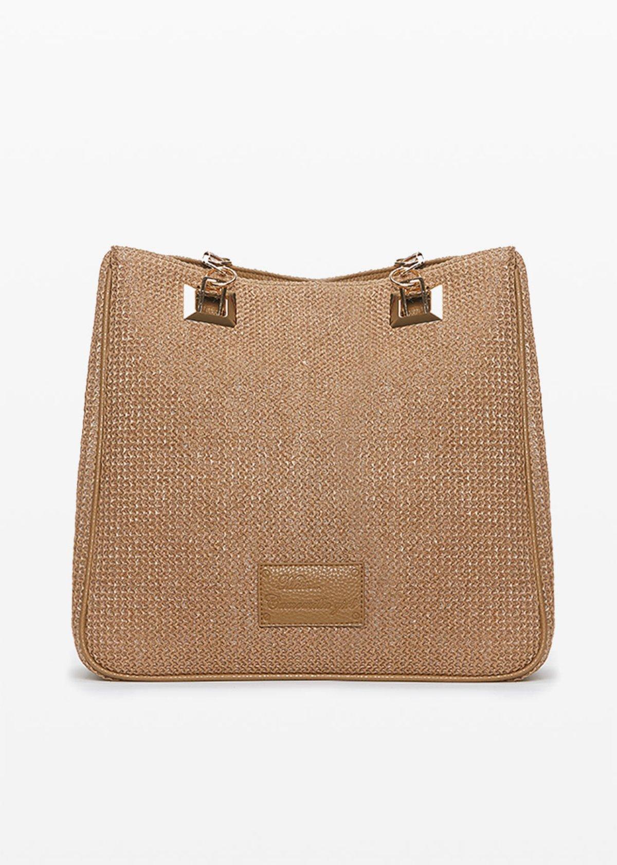 Blindas raffia fabric bag