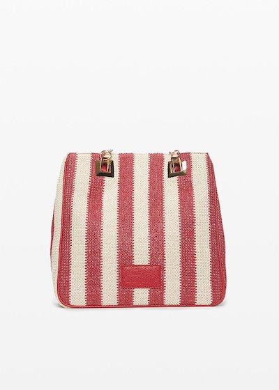 Mmissstri bag with stripes pattern