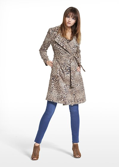 Coat Camilo in patterned spotted fabric