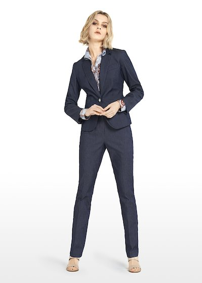 Gaynor Stretch denim jacket and jewel button