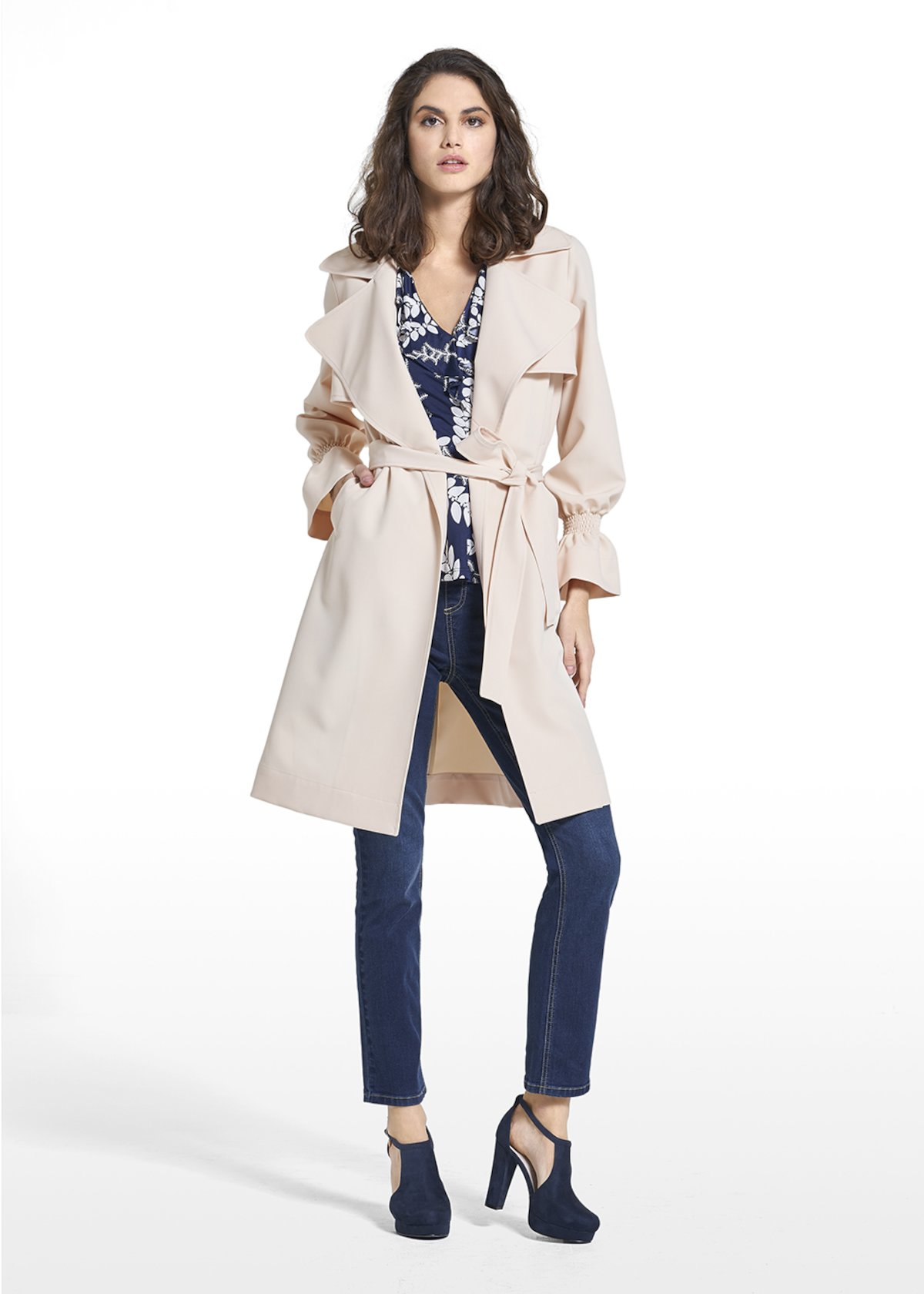 Trench Tender iin technical fabric - Cream - Woman