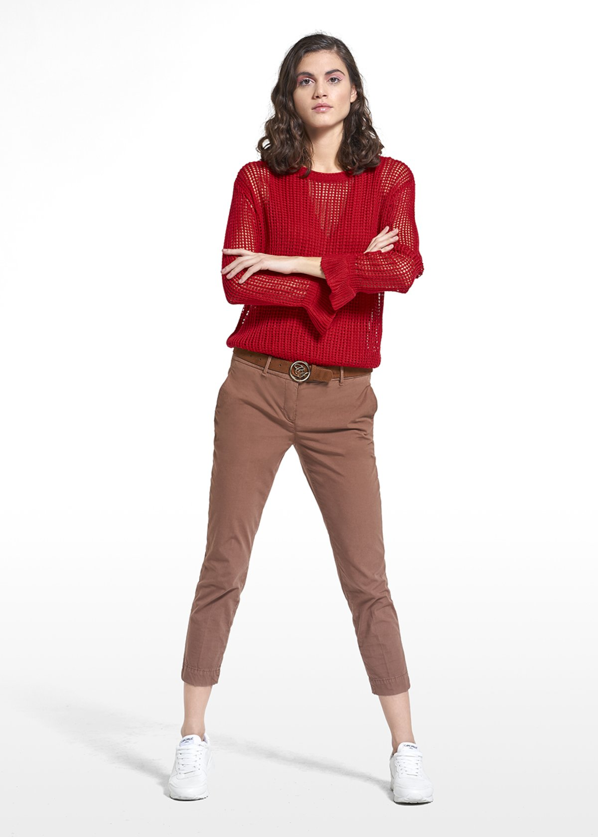 Pants Palmir with fake pockets - Earth - Woman