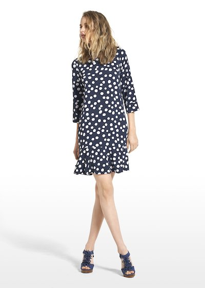Dress Alois with polka dot pattern