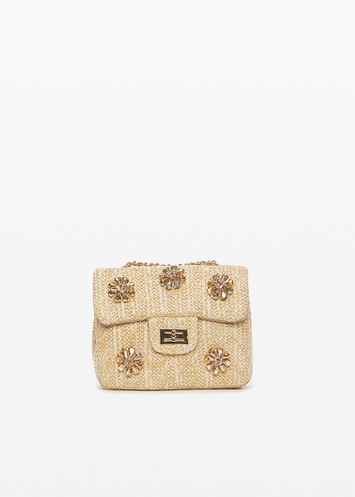 Byss Clutch bag with flowers applications - Safari - Woman - Category image
