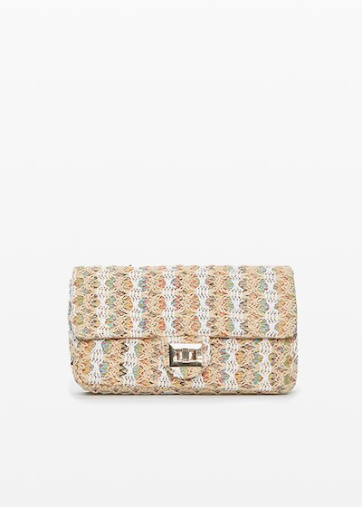 Boss multicolour clutch bag with metal closure