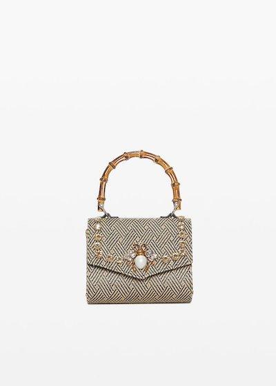Clutch bag Braided in paglia intrecciata