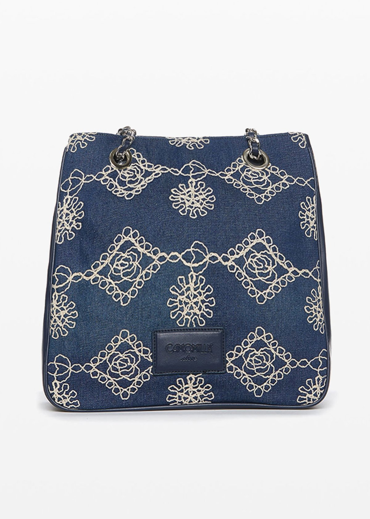 Barrie bag with chain handles - Dark Denim - Woman