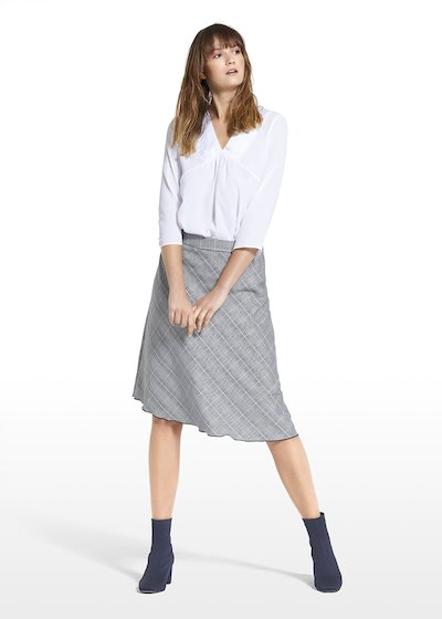 Skirt Geky with check pattern