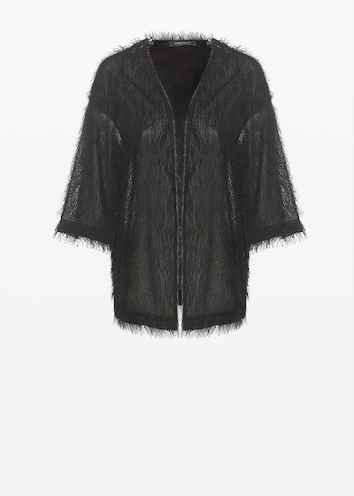 Craing faux fur unlined shrug