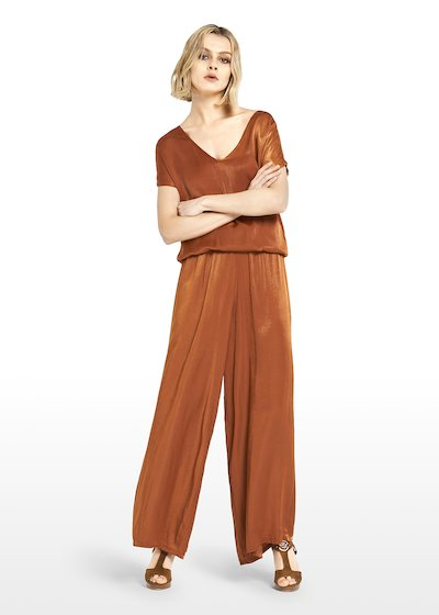Pako trousers satin effect with elastic waist
