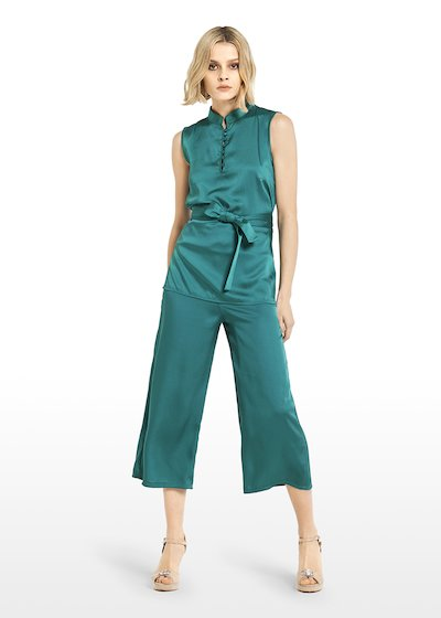Pagor trousers satin effect with elastic waist