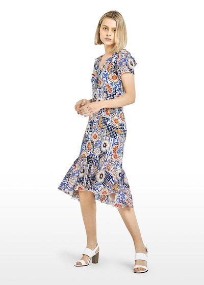 Alvin Short sleeve dress Ankara print