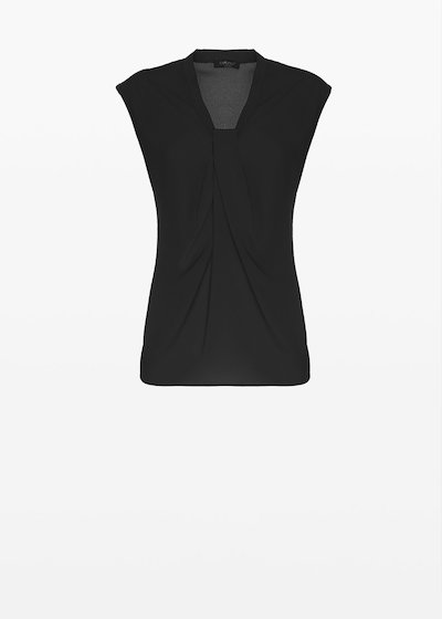 Sleeveless Tom top with knot neckline