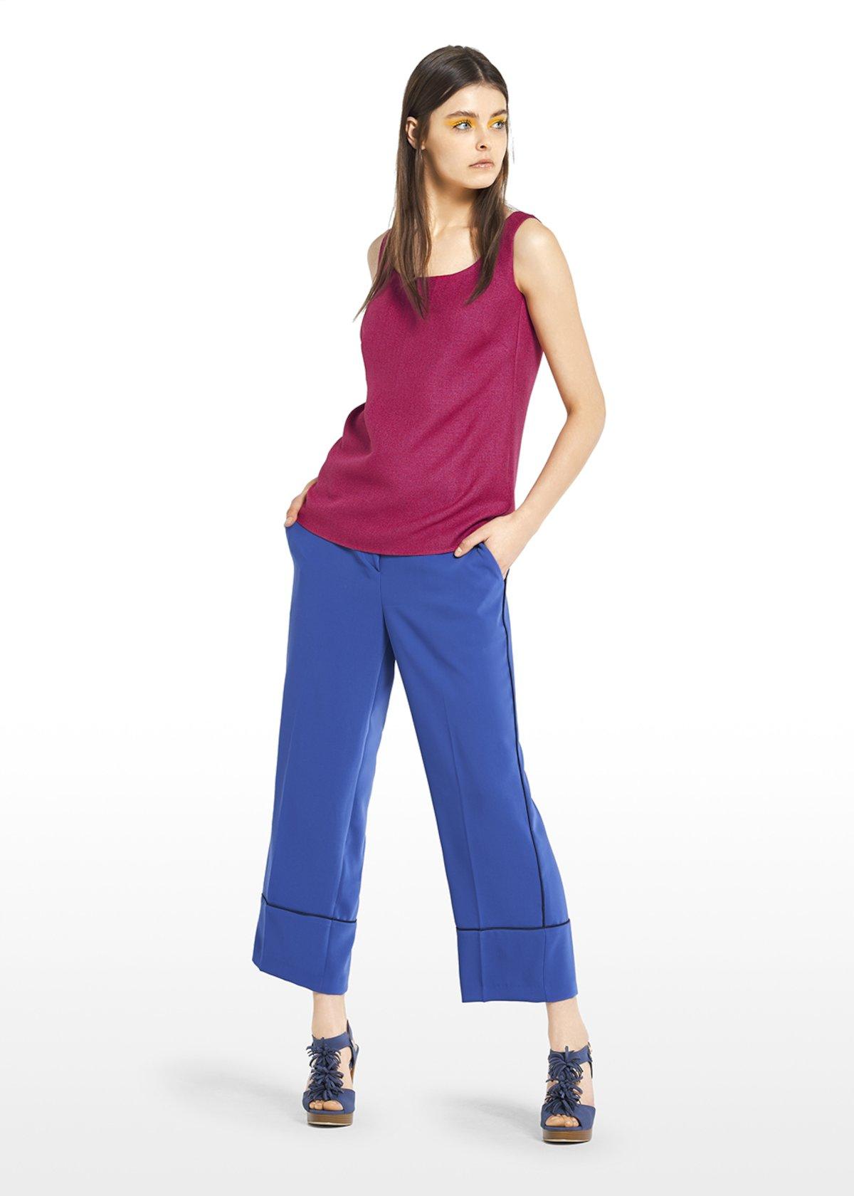 Top Trudie in mat effect fabric - Peonia - Woman