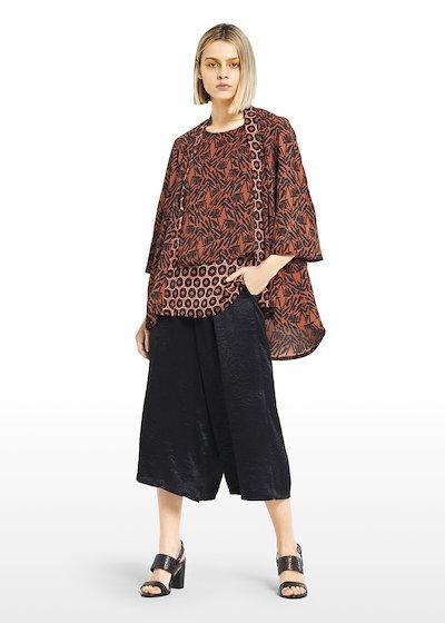 Clara shawl in Kenya patterned crêpe