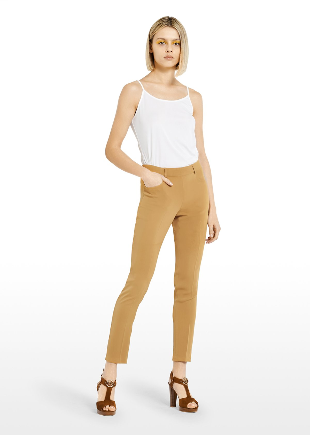 Capri pants Perli Scarlett design with slim leg - Brown - Woman