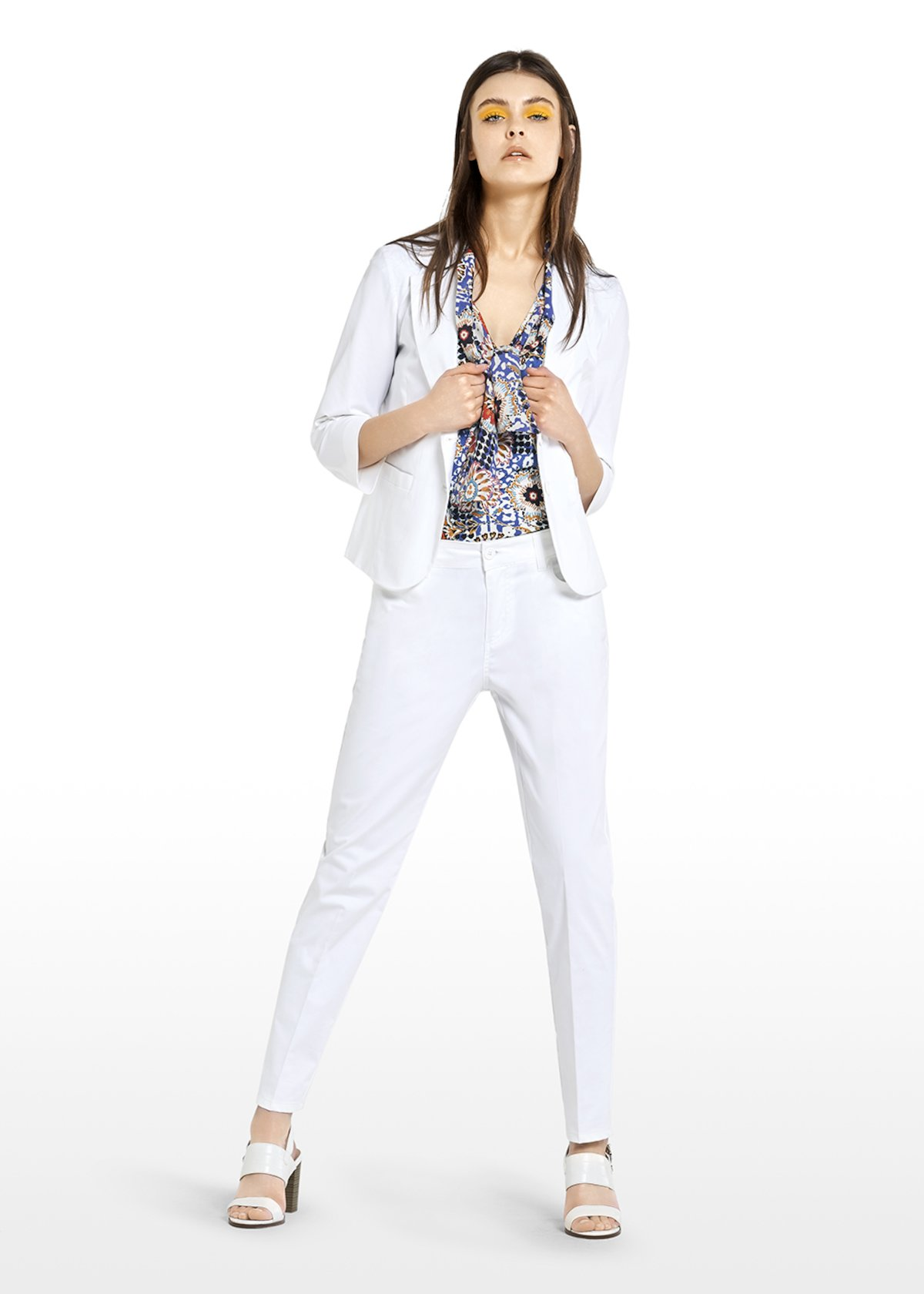 Ginevra Long sleeve couger jacket - White - Woman