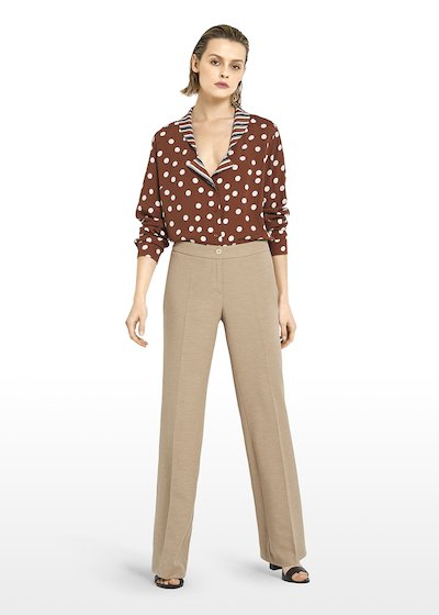 Pyper pants in linen blend fabric with wide leg