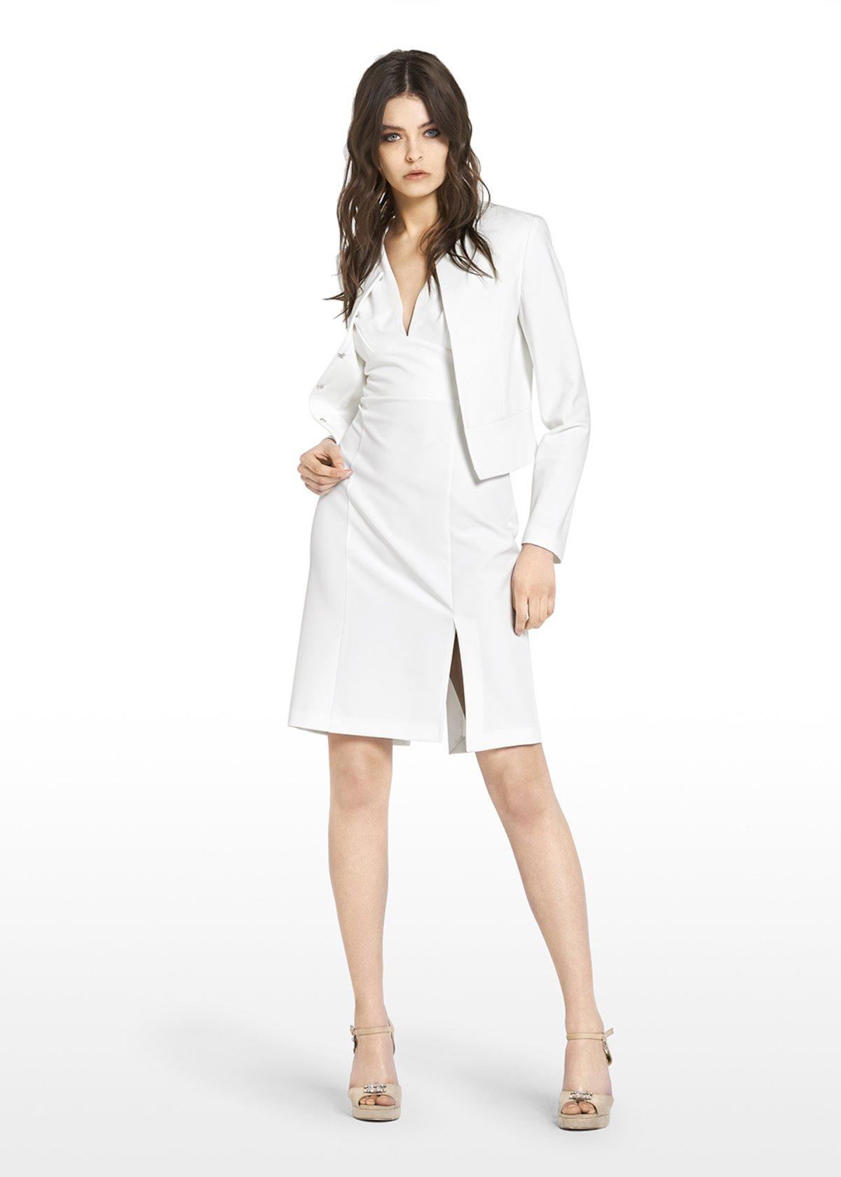 Carter shrug technical fabric - White - Woman