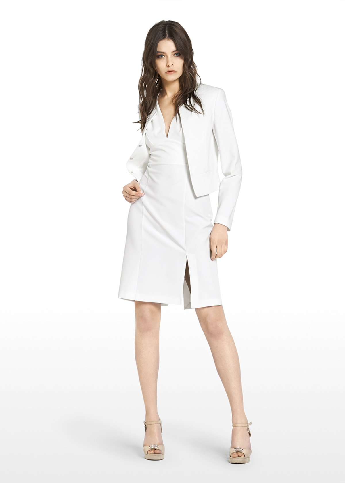 Carter shrug technical fabric - White - Woman - Category image