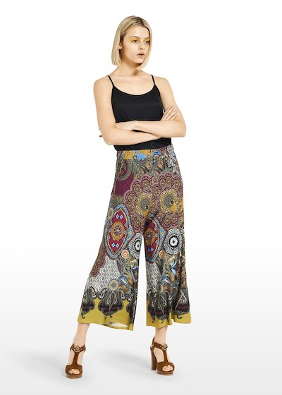 Cropped pants 'Peggy' Megan design with ethno fantasy