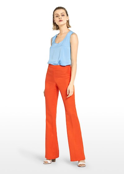 Plock flared trousers in linen
